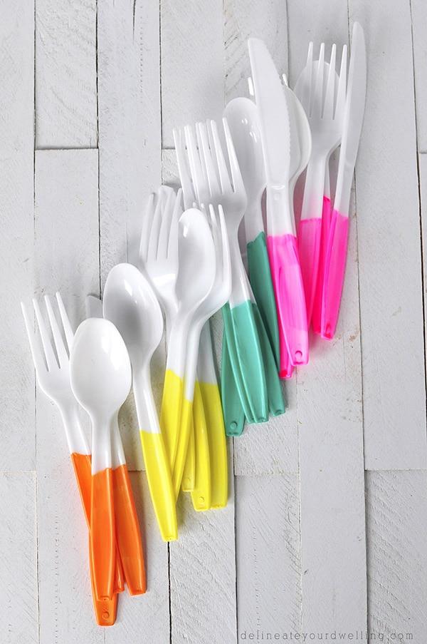 Painted Plastic Flatware flats