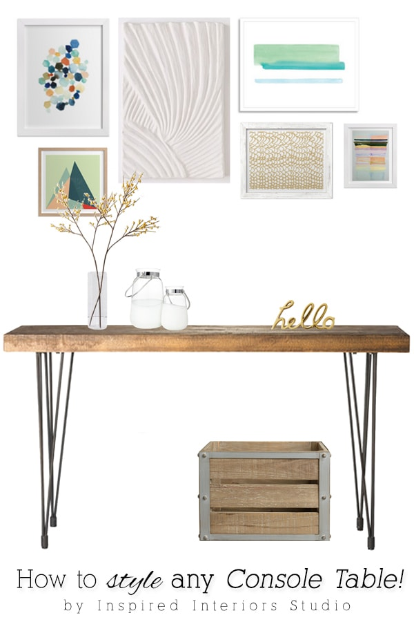 Style any Console Table, Delineateyourdwelling.com