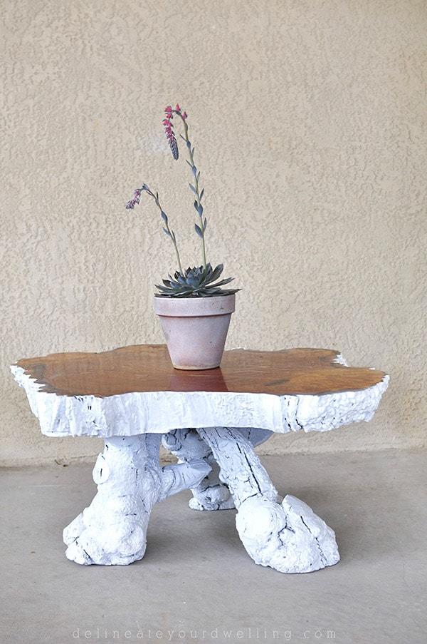 Vintage Tree Stump Table