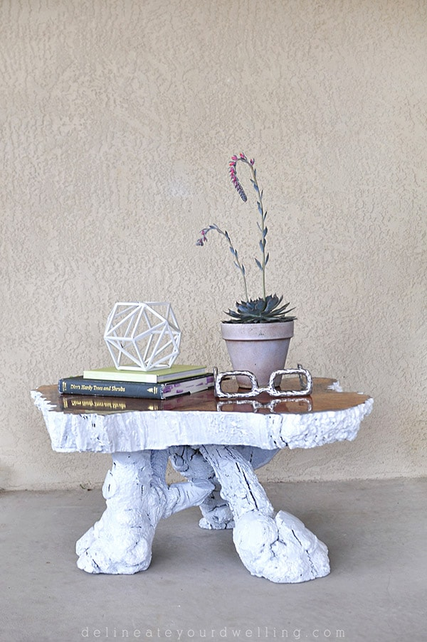 Updated Thrifted Tree Stump Table