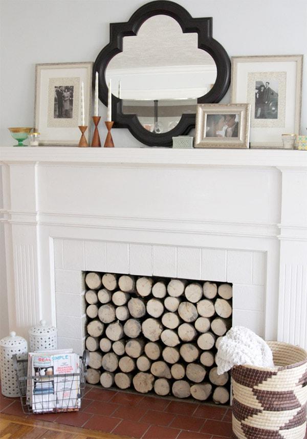 log-fireplace-facade-DIY, Feature Friday