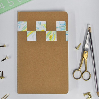1 DIY Marbled Notebook