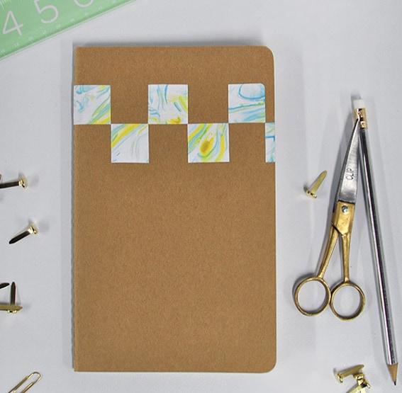 1 DIY Marbled Notebook