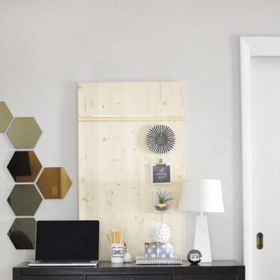 1 Rental Friendly Wood Memo Board