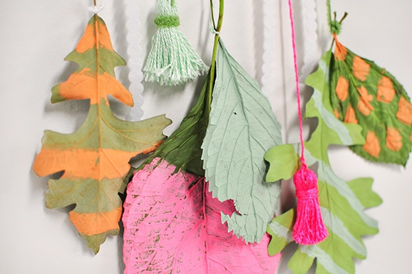 Colorful Leaf Hanging done