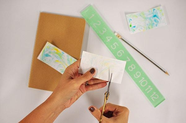 DIY Marble Notebook cut