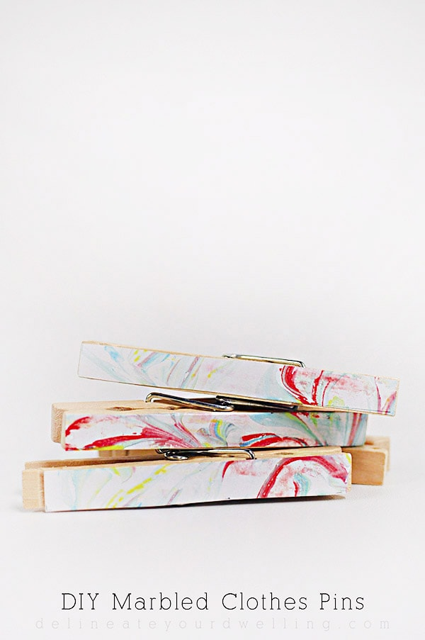 DIY Marbled Clothes Pins