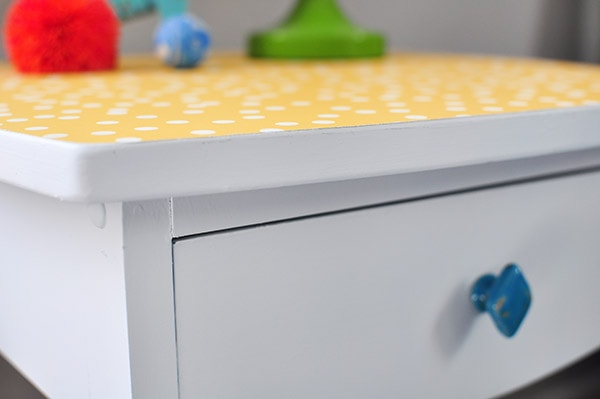 DIY Nightstand dots