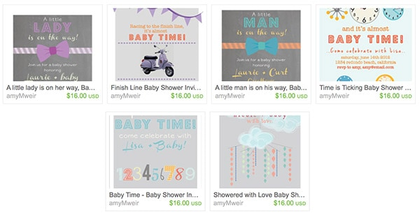 Delineate ETSY bday baby