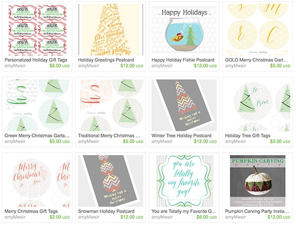 Delineate ETSY bday holiday