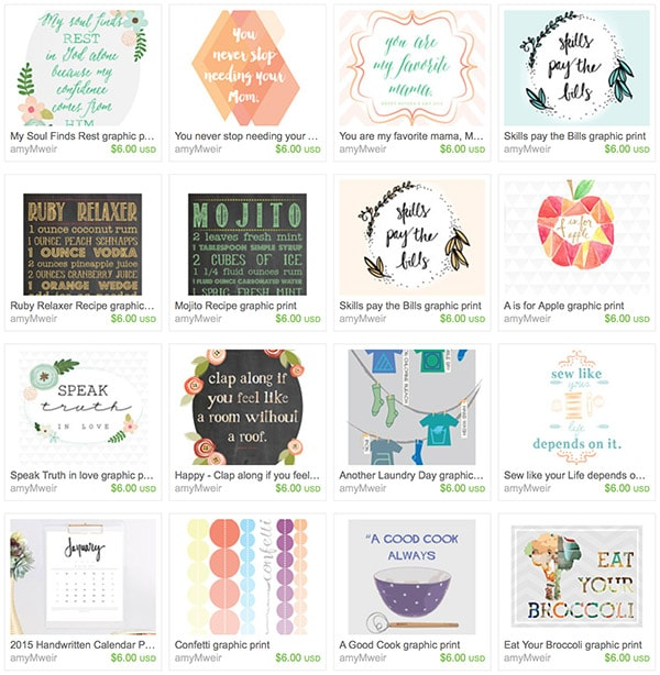 Delineate ETSY bday wall art