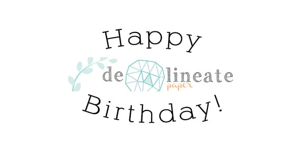 Delineate ETSY bday