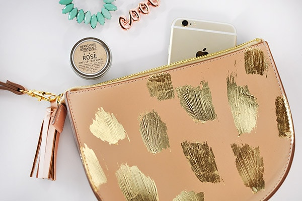 Gold Brushstroke Clutch
