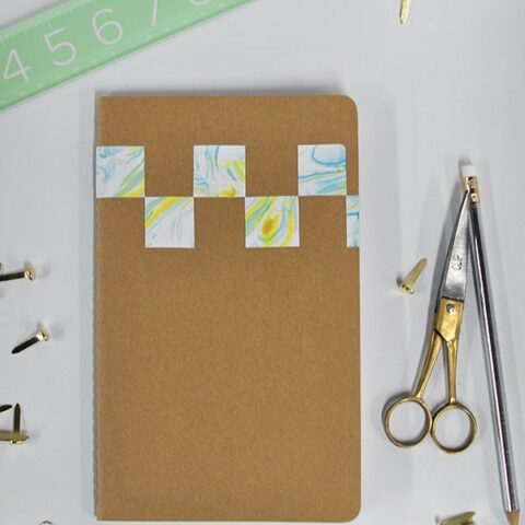 How to make a DIY Marbled Notebook