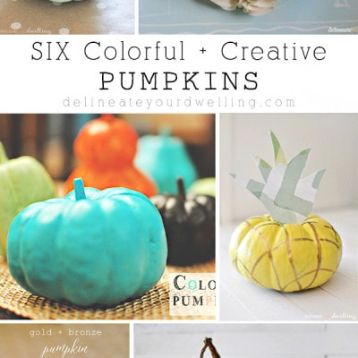 Six Colorful and Creative Pumpkins, Delineateyourdwelling.com