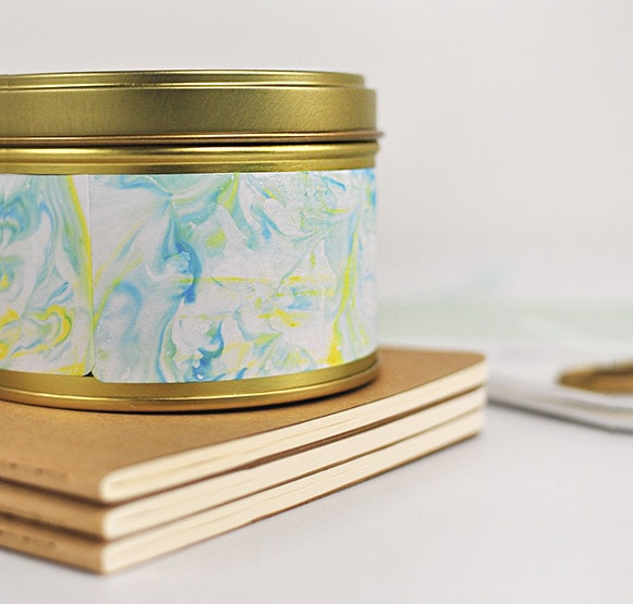 1 DIY Marbled Canister