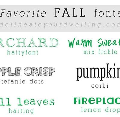 1 fall fonts