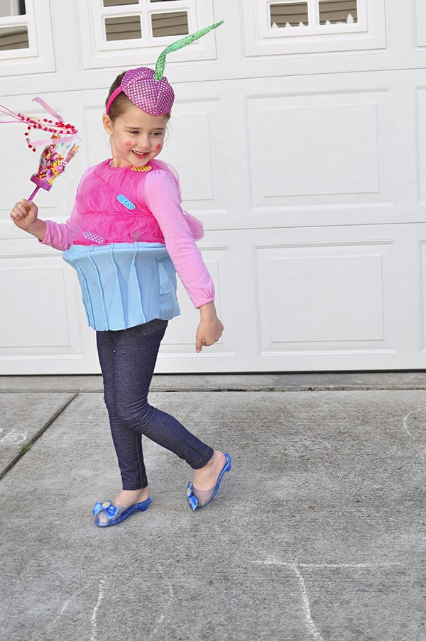 Pink DIY Cupcake Kid Costume