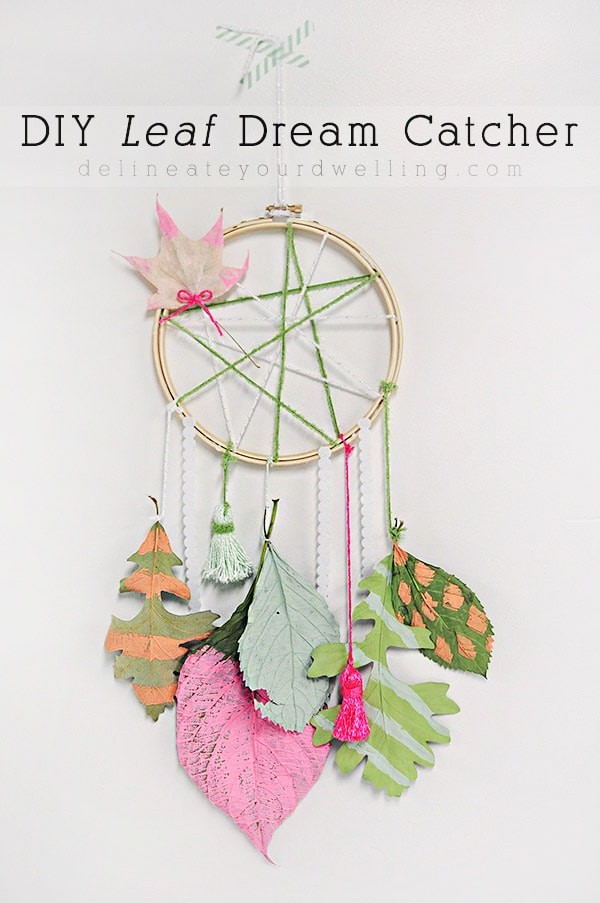 Easy Fall craft, DIY Leaf Dream Catcher
