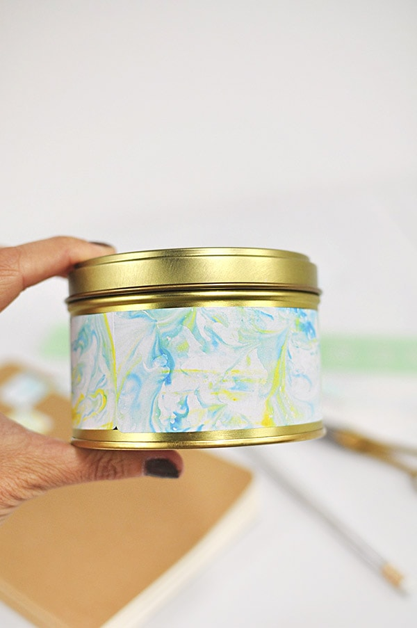 DIY Marbled Canister, Delineateyourdwelling.com