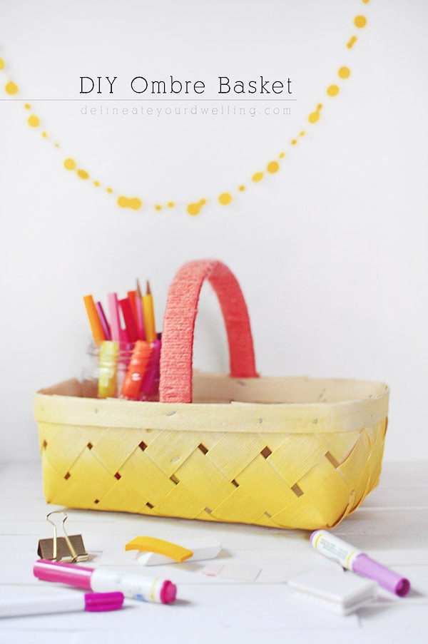 DIY Yellow Ombre Basket