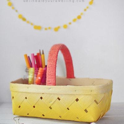 DIY Ombre Basket, Delineateyourdwelling.com