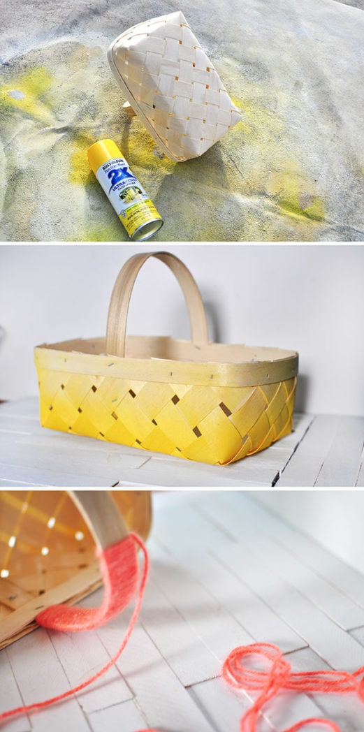 DIY Ombre Basket steps