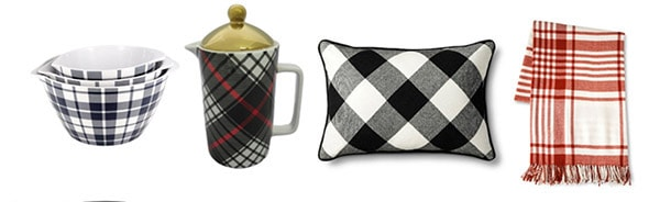 Must Have Plaid Items- Home Goods