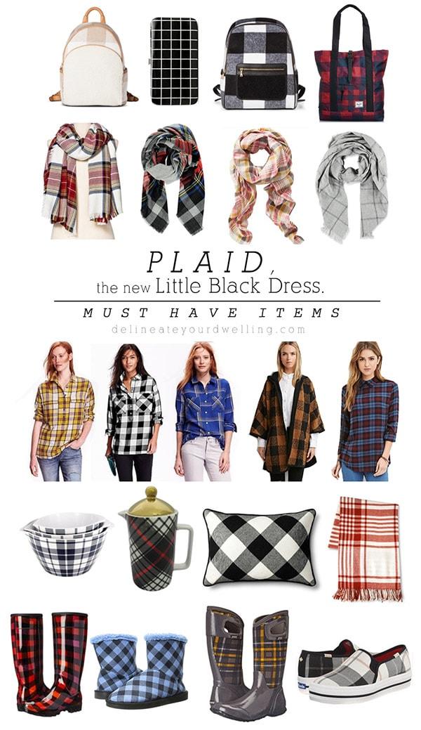 Plaid, Buffalo Check and Grid Home decor, clothing