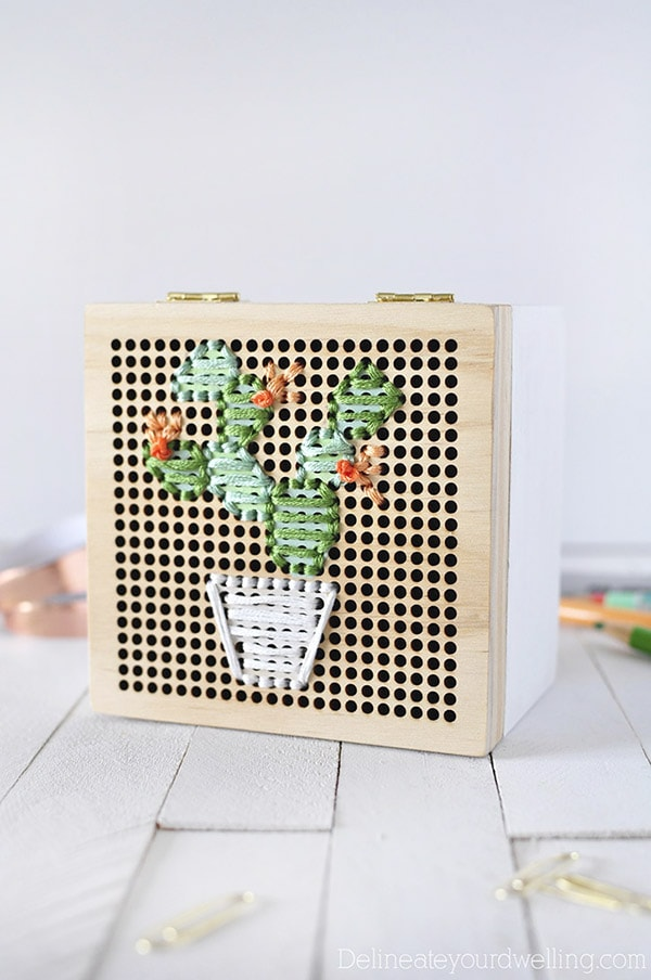 Simple-Cacti-Embroidery-Box, Best of Cacti and Succulent