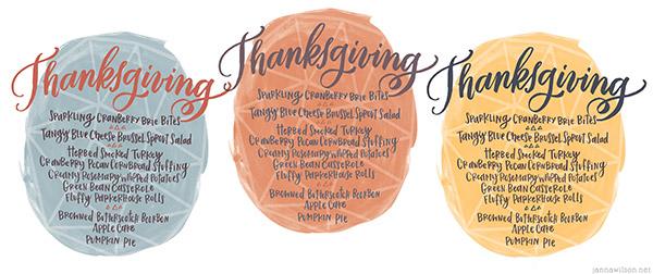 Thanksgiving Menu files