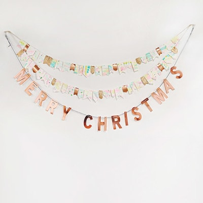 1 Merry Christmas Watercolor Garland