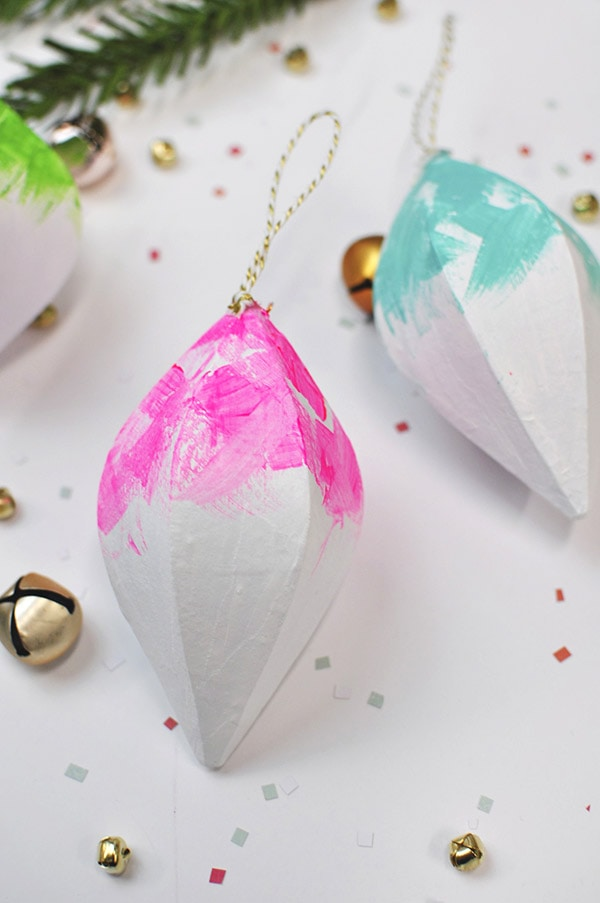 Colorfully Painted Christmas Ornaments, Delineateyourdwelling.com