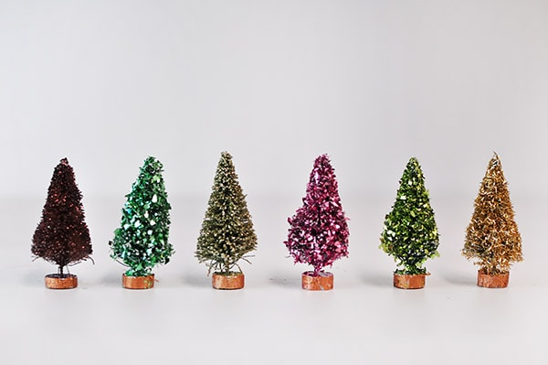 Glitter Bottle Brush Trees, Delineateyourdwelling.com