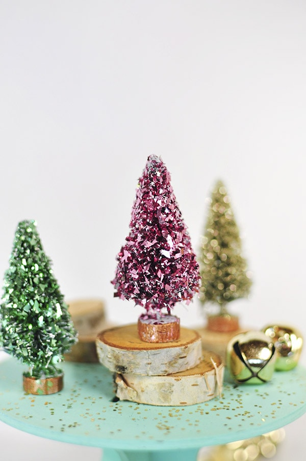 Glitter Bottle Brush Trees, Delineateyourdwelling.com