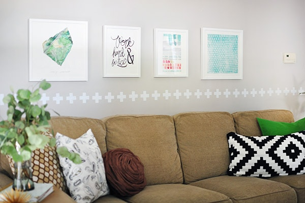 Minted Art Rental Home sofa wall