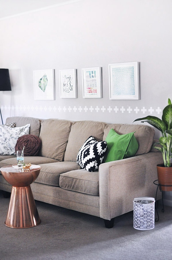 Make a Rental Home a House with Minted Art, Delineateyourdwelling.com