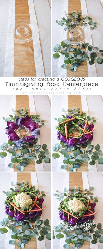 Thanksgiving Food Centerpiece steps, Delineateyourdwelling.com