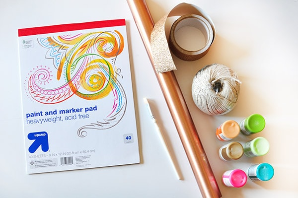 Watercolor Garland supplies