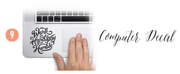 9 Computer Decal, Creative Gift Guide