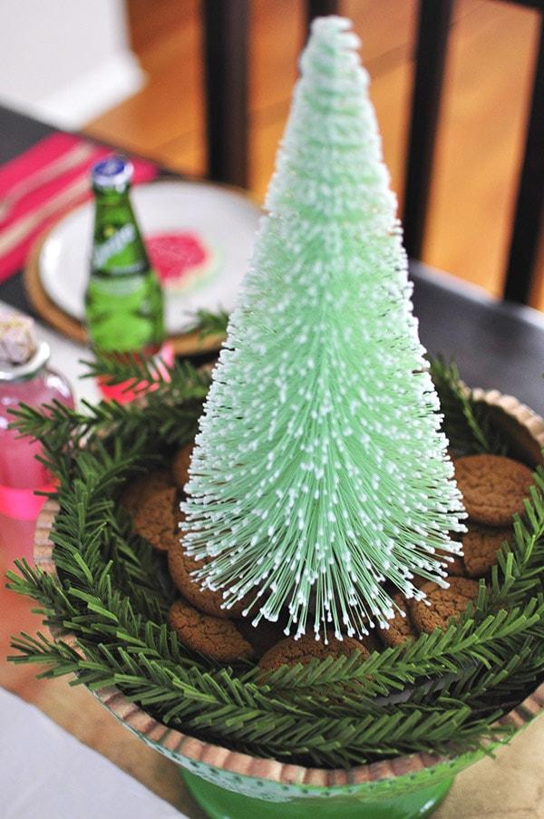 Christmas Mint Bottle Brush Tree