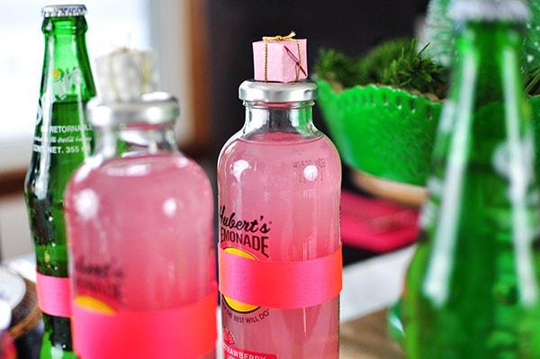 Christmas Cookie Table Pink lemonade