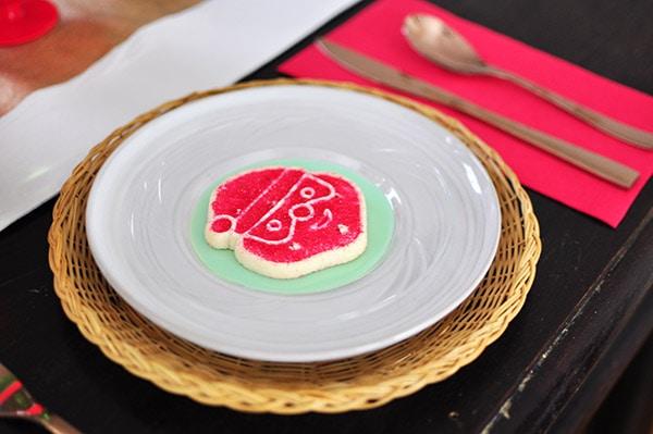 Red Sprinkle Santa Cookie Plate