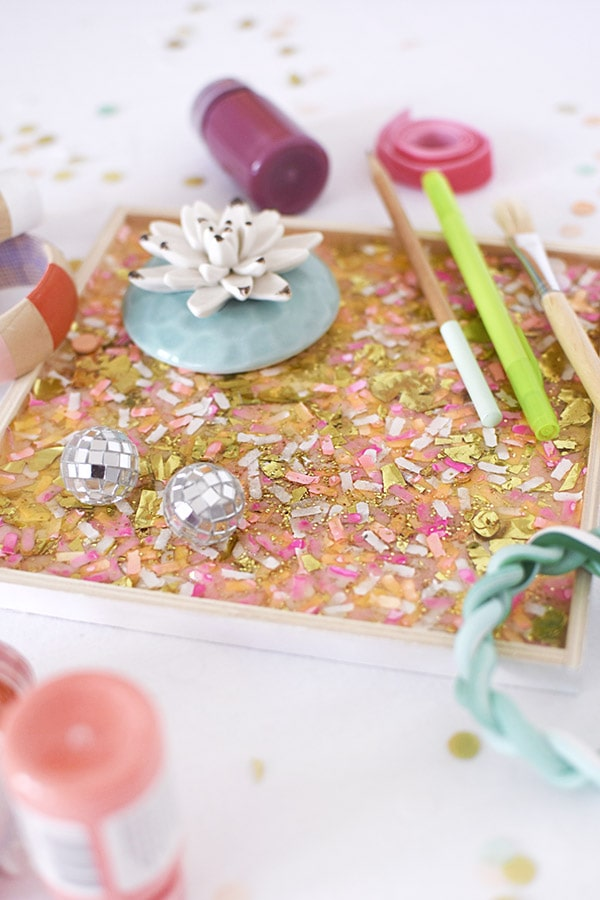 How to create a gorgeous and colorful DIY Confetti Tray in just a few steps! Delineate Your Dwelling