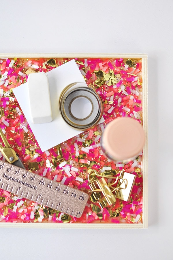 DIY Confetti Tray plan
