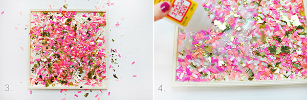 DIY Confetti Tray steps3-4