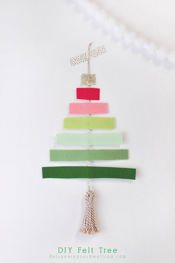 DIY Felt Tree - Colorful Christmas, Delineateyourdwelling.com