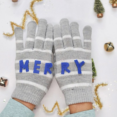 Merry Felt Mittens - Colorful Christmas, Delineateyourdwelling.com