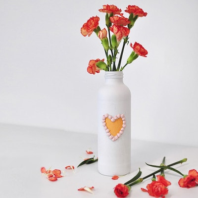 1 Valentine's Day Painted Vase