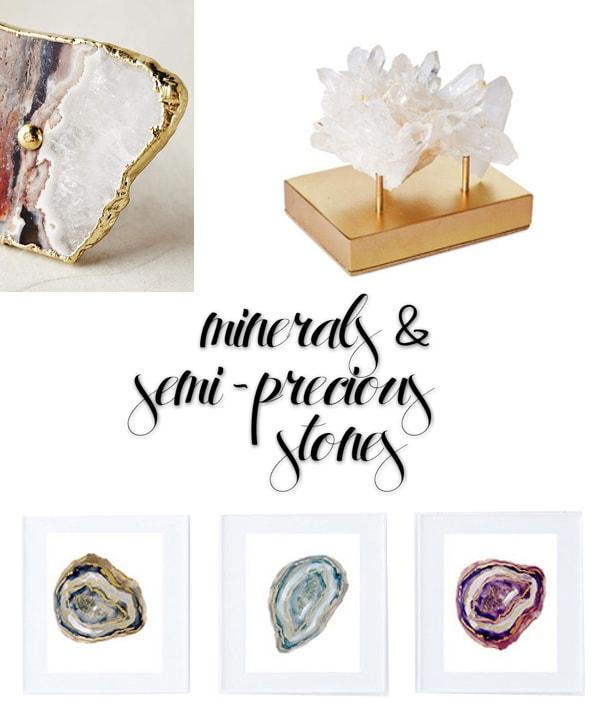 2016 Design Trends Minerals -SemiPrecious Stones